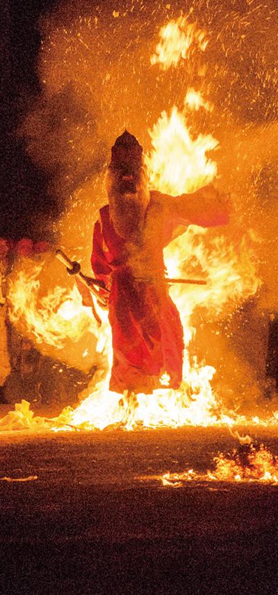 積丹火祭りの様子